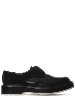 Polished Leather Derby Lace-up Shoes