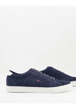 Tommy Hilfiger lace up plimsolls in navy suede