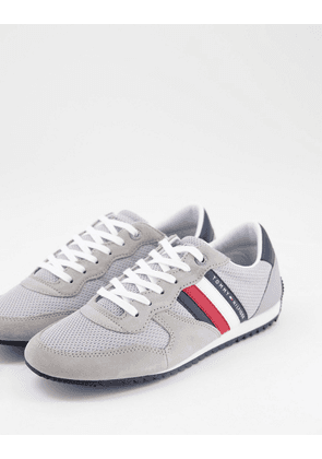 Tommy Hilfiger essential mesh runner trainers in grey