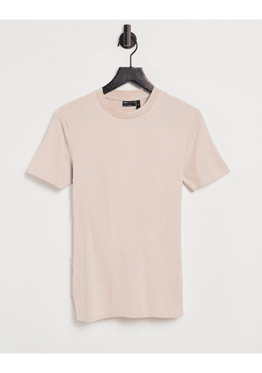 ASOS DESIGN organic muscle fit t-shirt in pink