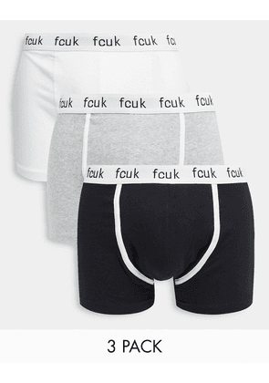 French Connection FCUK 3 pack logo trunks-Multi