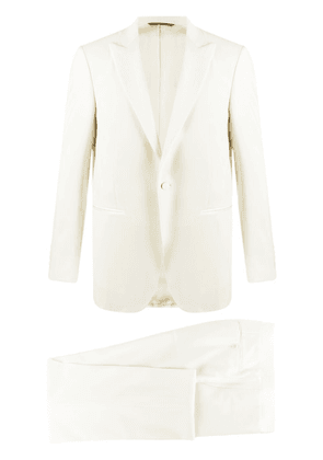Canali single-breasted two-piece dinner suit - White