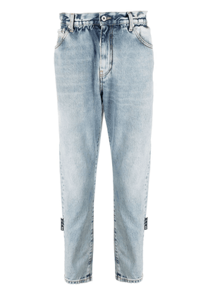 Off-White slim-fit belted jeans - Blue