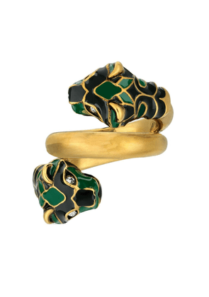 Gucci double-panther head ring - Gold