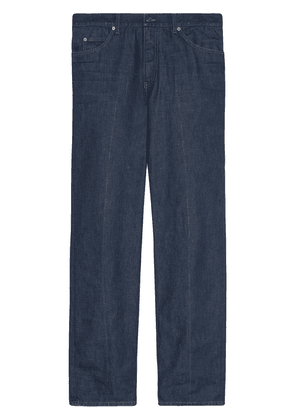 Gucci eco-washed organic straight-leg jeans - Blue