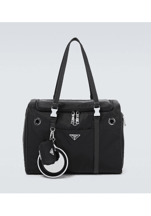 Nylon and Saffiano leather pet bag