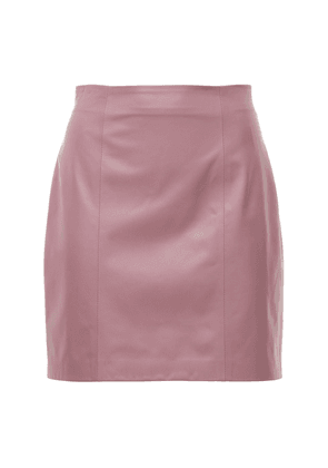 To Let Leather Mini Skirt