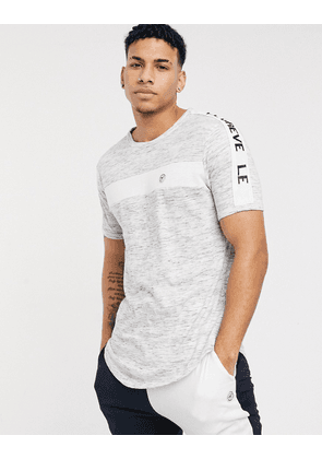 Le Breve mix and match lounge t-shirt in black stripe
