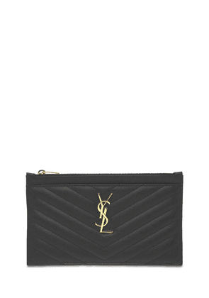 Small Quilted Leather Clutch