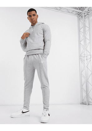 Siksilk tailored joggers in grey
