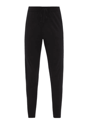 Falke - Drawstring High-rise Virgin-wool Track Pants - Womens - Black