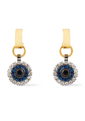Elizabeth Cole 24-karat Gold-plated, Hematite-plated And Swarovski Crystal Earrings Woman Gold Size --