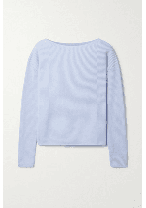 Max Mara - + Leisure Ciro Ribbed Cotton-blend Sweater - Light blue