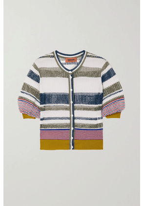 Missoni - Striped Crochet-knit Cardigan - White