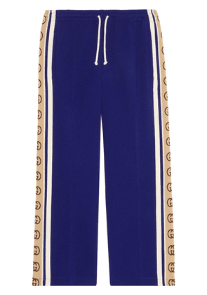Gucci cropped track trousers - Blue