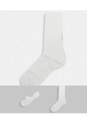 Nike 2 pack socks in white