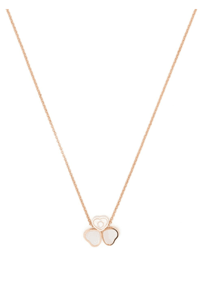 Chopard 18kt rose gold Happy Hearts Wings diamond and mother-of-pearl pendant necklace - Pink