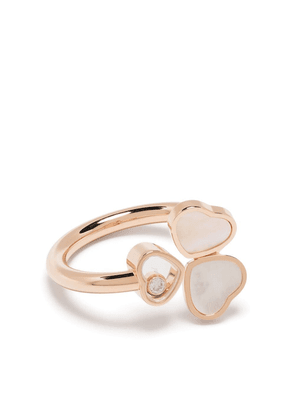 Chopard 18kt rose gold Happy Hearts Wings diamond and mother-of-pearl ring - Pink