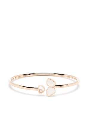 Chopard 18kt rose gold Happy Hearts Wings diamond and mother-of-pearl bangle - Pink