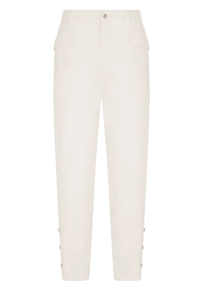 Dolce & Gabbana panelled button-detailed trousers - White