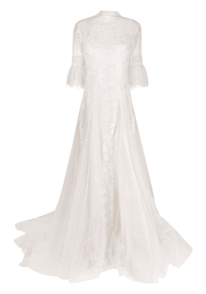 Parlor Evelyn embellished tulle gown - White