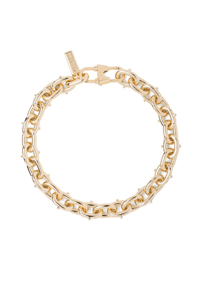 Prada studded chunky chain link necklace - Gold