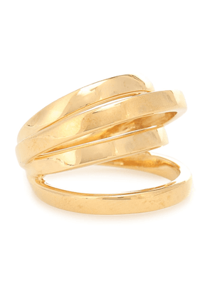 Space gold vermeil ring