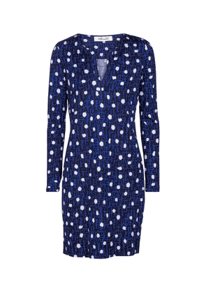 Reina polka-dot silk jersey minidress