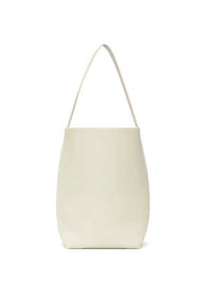 The Row Off-White Leather Park Tote