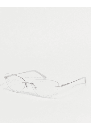 Calvin Klein cat eye clear lens glasses