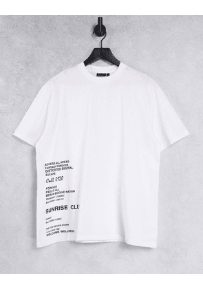 ASOS DESIGN relaxed t-shirt in white with side text print