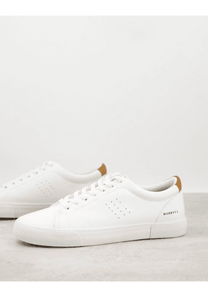 Bershka trainers with embellished details in white
