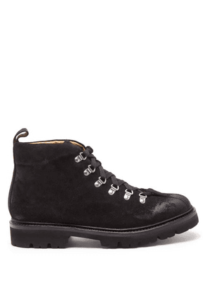Grenson - Bobby Suede Hiking Boots - Mens - Black