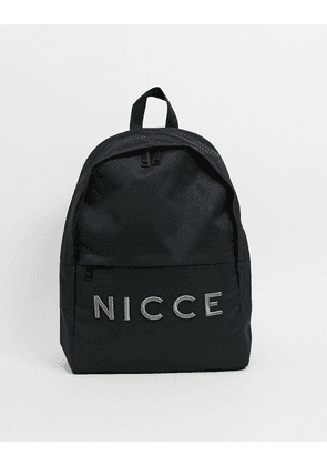 Nicce embroidered logo backpack in black