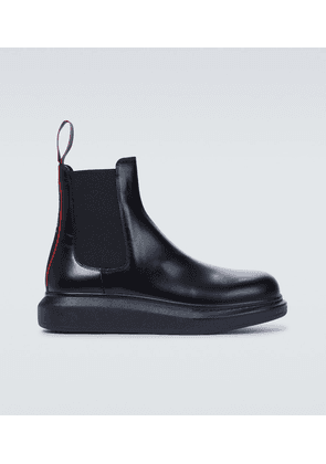 Hybrid leather Chelsea boots