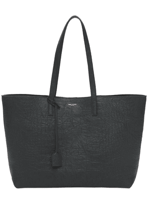 Unstructured Croc Embossed Leather Tote