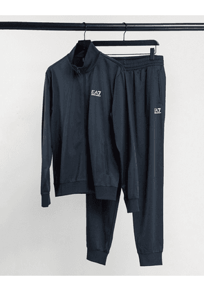 Armani EA7 core ID tricot tracksuit in navy