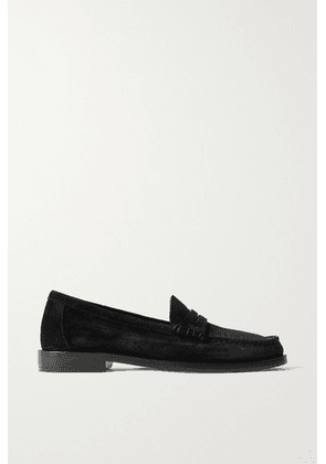 SAINT LAURENT - Suede Loafers - Black