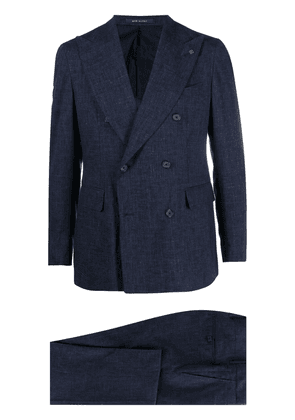 Tagliatore check-pattern double-breasted suit - Blue