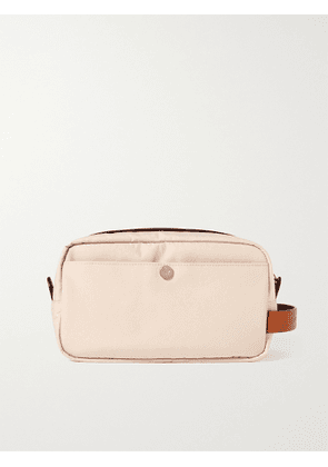 BRUNELLO CUCINELLI - Leather-Trimmed Nylon Wash Bag - Men - Neutrals