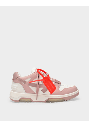 Off-White OOO Out of Office Sneakers in White and Nude