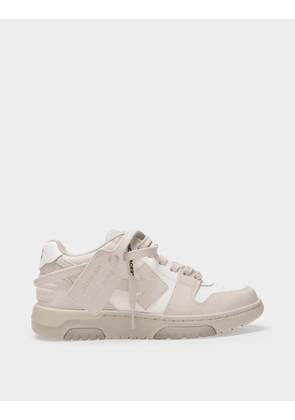 Off-White Out Of Office Sneakers in White Beige
