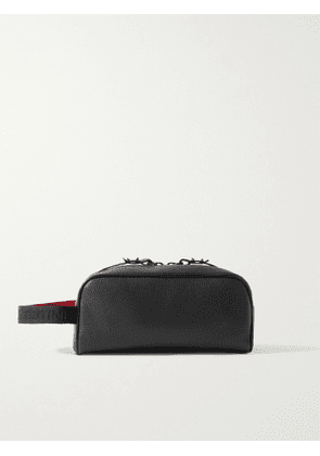 CHRISTIAN LOUBOUTIN - Full-Grain Leather Wash Bag - Men - Black