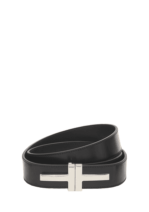 4cm Double T Leather Belt