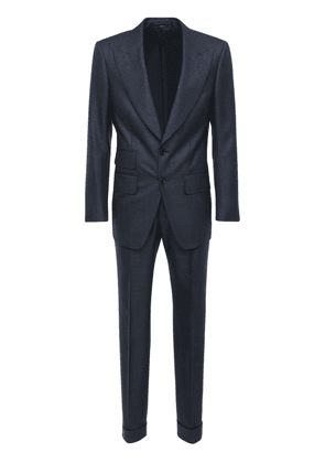 Single Breast Wool Check Sporty Day Suit