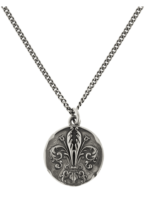 Lily Coin Pendant Chain Necklace