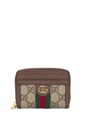 Ophidia Gg Canvas Card Case Wallet