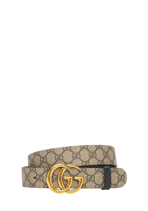 3.7cm Gg Marmont Reversible Canvas Belt