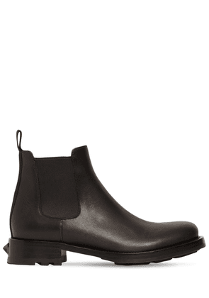 Leather Chelsea Boots W/ Heel Stud