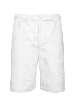 Cotton Blend Piquet Shorts